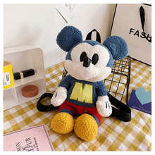 Toy Backpack Purse Mouse Plush-Coin Cow-Shoulder Mickey Kids Cartoon Disney Cute Crossbody-Bag