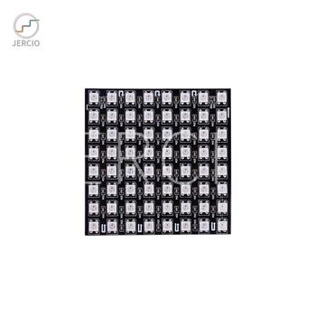 цена на JERCIO 8X8 Pixel Led Module Panel WS2812B SK6812 RGB DC5v SK6812 IC Chip Digital  LED Programmed Individually Addressable
