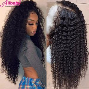 HD Transparent Lace Wigs Deep Wave Lace Front Wig Pre Plucked 4x4 Closure Wig Deep Part 13x6 Curly Lace Front Human Hair Wigs(China)