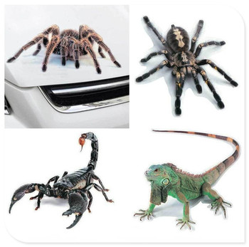 3D Car Sticker Animals Spider Gecko Scorpions Vinyl Decal for BMW 335is Scooter Gran 760Li 320d 135i E60 E36 F30 F30 image
