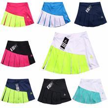 Женские теннисные шорты со встроенными шортами, высококачественные Лоскутные плотные спортивные юбки для йоги и бадминтона, женские тенни...