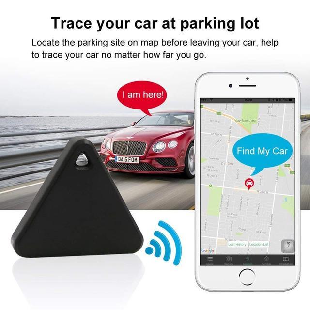 Pet Smart Mini GPS Tracker Pet Locator Anti-lost Waterproof Bluetooth Tracker Triangular Kids Dog Cat Tracker Multiple Colors 3