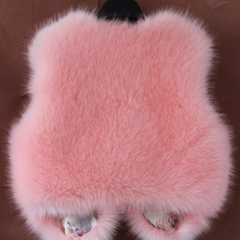 New Ladies Faux Fur Fox Vest Short Faux Fur Vest Autumn Winter Fashion Warm Outwear Woman Soft Coats and Jackets Casual Vest