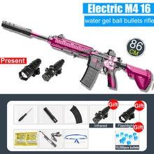 Pistola de agua de ráfaga automática para niños, Rifle de francotirador, pistola de tiro de pintura suave, juguete al aire libre, regalo para niños, M416