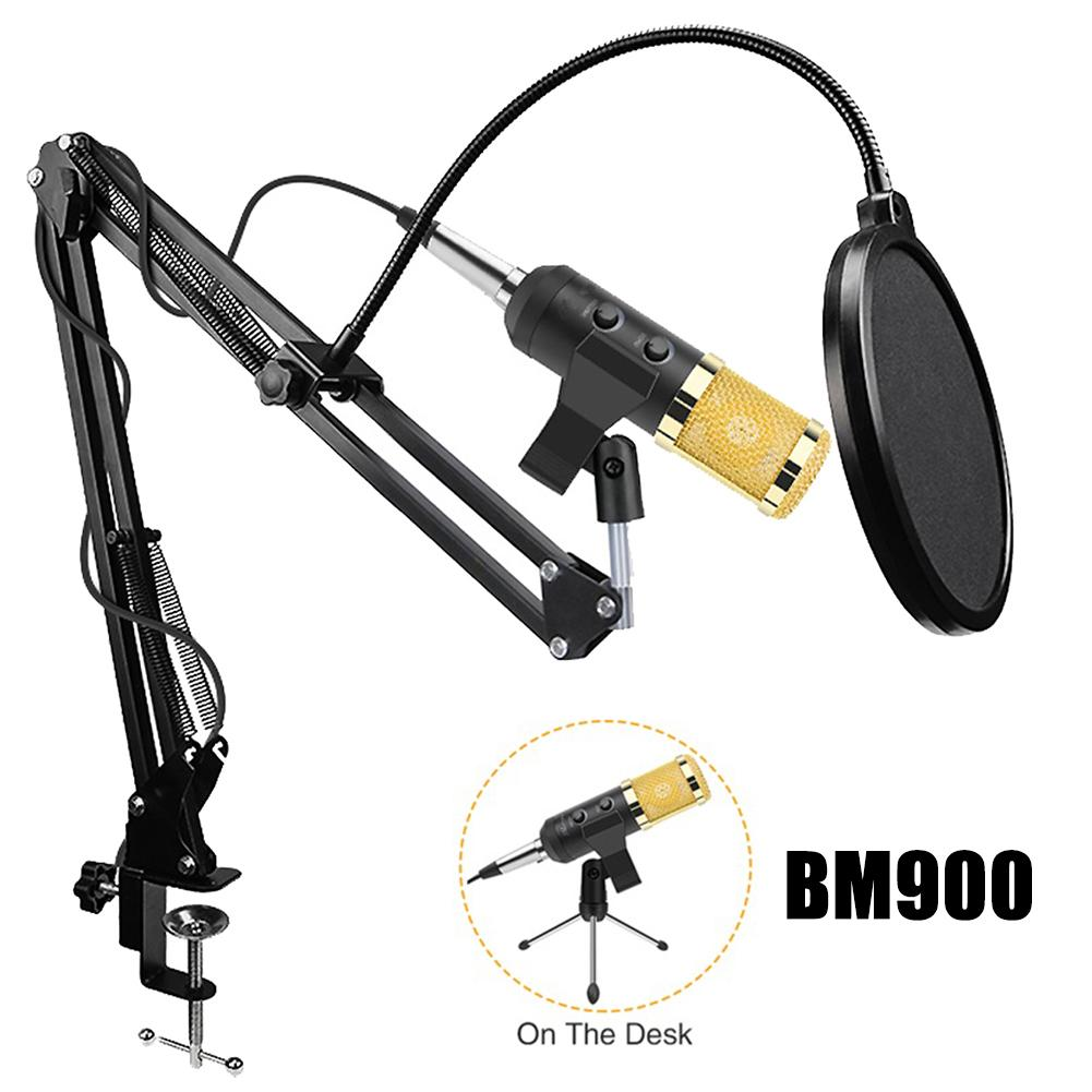 <font><b>BM900</b></font> USB Capacitive <font><b>Microphone</b></font> Vocal Recording Wired Mic Kits for PC Computer image