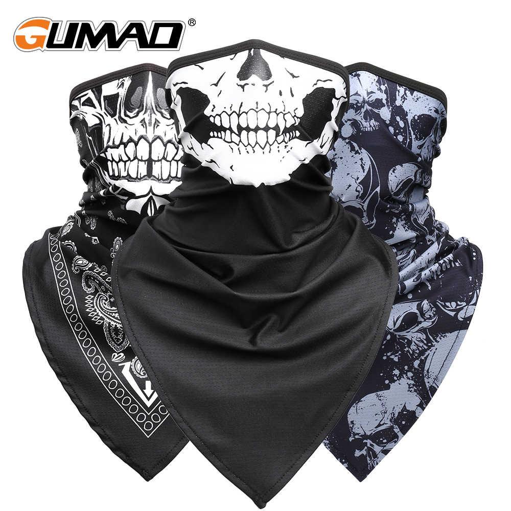 Men//Women/'s Skull Print Winter Ski Sport Biker Scarf Half Face Halloween