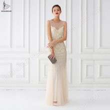 Women 1920s Vintage Great Gatsby Party Dress Elegant Art Deco Double Long Dresses V Back Beaded Sequin Sleeveless Embellished sequin embellished mixed media dress