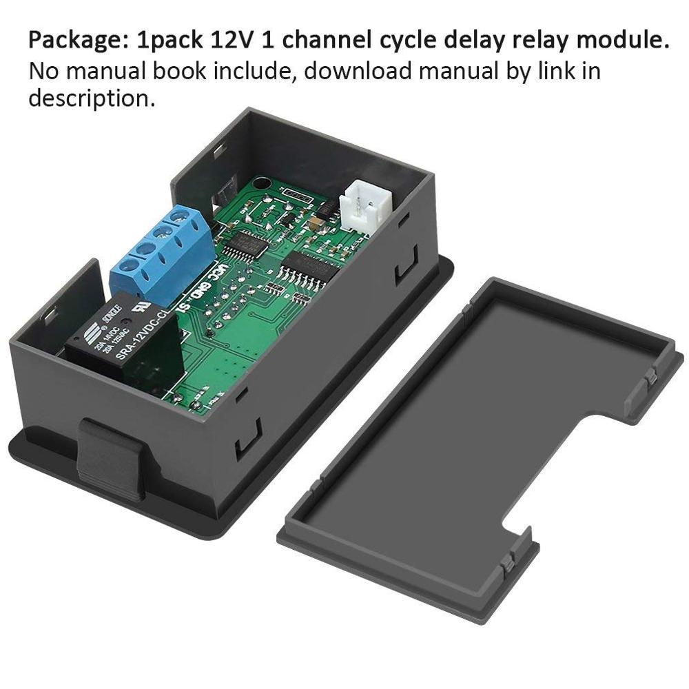 Реле времени DC 12V 20A программируемый цифровой времени задержка цикла модуль автоматического включения света 1500W 220V 110V ВКЛ-ВЫКЛ Управление 0-999 во-вторых мин час