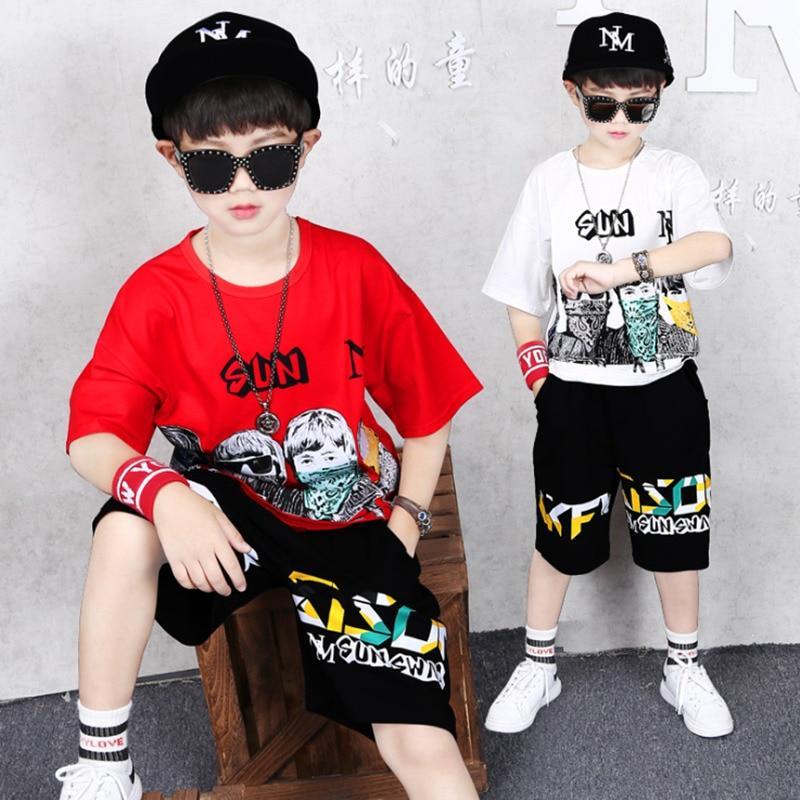 2020 meninos roupas de verao criancas dos desenhos animados lette t camisa shorts menino outfit esporte