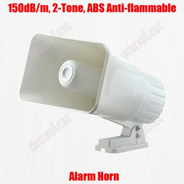2 لهجة زمارة و صفارة 150dB بصوت عال عالية حجم الأبيض ABS بوق إنذار DC 12V التسلل سيارة السلامة النار الأمن مكبرات صوت