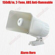 Bocina de alarma ABS blanca de alto volumen, bocina de alarma de 2 tonos, 150dB, 12V de CC, intrusión, seguridad para vehículos de coche, altavoz de sonido de seguridad contra incendios
