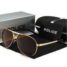 Lunettes de soleil de Police pour hommes, verres de styliste, classiques, polarisés, à la mode