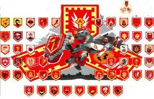 Image 2 - Nexoe рыцаря, редкие щиты, модель, строительные блоки, замок, воин, Nexus, сканируемые игровые игрушки для детей