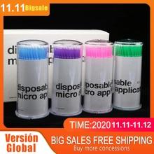 100PCS Disposable MicroBrush Eyelashes Extension Individual Lash Removing Swab Micro Brush for Permanent Makeup Microblading