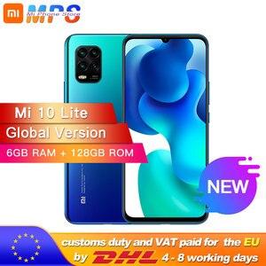 Глобальная версия xiaomi mi 10 Lite 5g смартфон 6 ГБ 128 Snapdragon 76 5g Octa Core 48MP AI Quad камеры 6,57