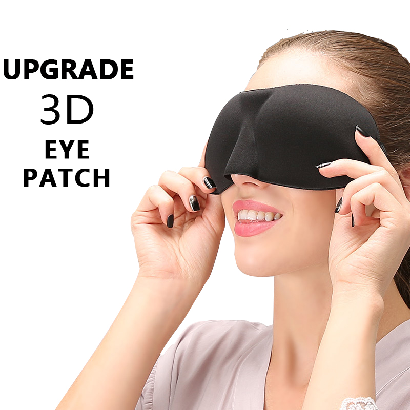 2019 Brandnew Upgrade 3D Sleep Eye Mask Good Shading Stereo Eye Cover Sleeping Mask Travel Rest Eye Band Eyepatch Blindfolds