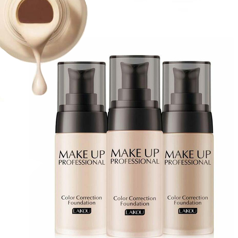 2019 Professional Face Base Makeup Waterproof Matte Mineral 40ml Foundation Cream Full Whitening Color Correction Liquid Makeup