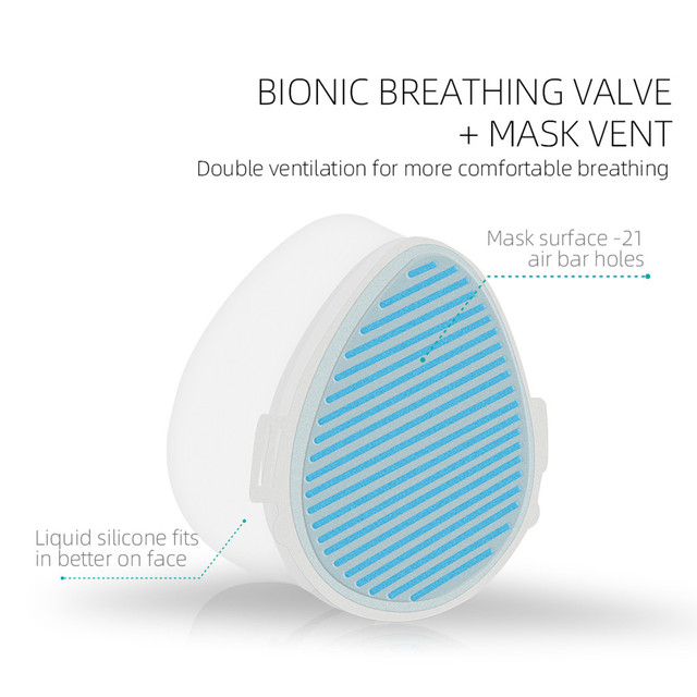 #H40 Electric Mask Respirator Air Purifying Dustproof Mask Haze PM2.5 Face Mouth Mask Care Mouth-muffle bacteria proof Flu 3