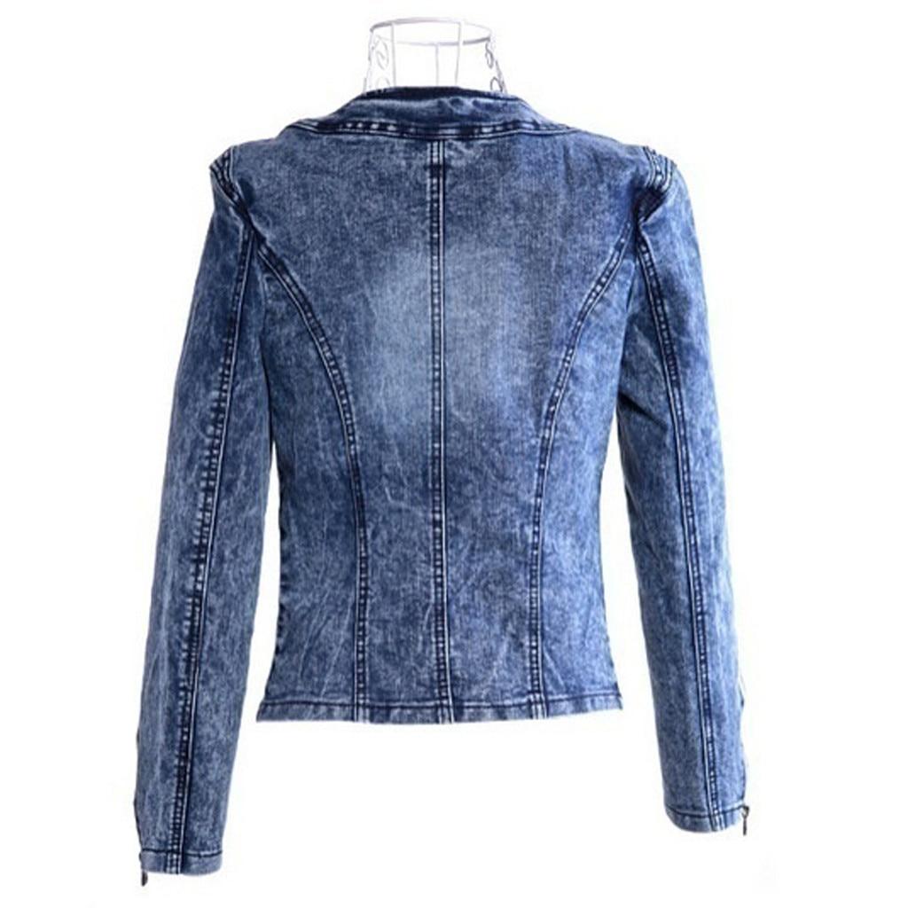 He3e41a76d9c7432fbd6a176a133d77a9k JAYCOSIN Women's Coat New Fashion 2019 Denim Coat Ladies Casual Jacket Outwear Jeans Overcoat female Turn-down Collar jackets