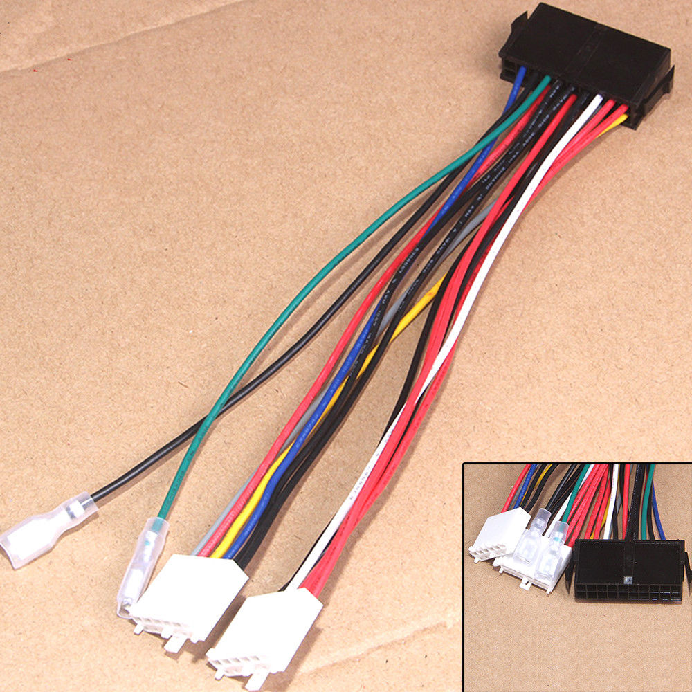 YA693-698 ATX To 2 Port 6Pin AT PSU Converter Power Cable For Computer