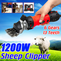 1200W Electric Sheep Pet Hair Clipper Shearing Kit Shear Wool Cut Goat Horse Animal Shearing Supplies Farm Scissor