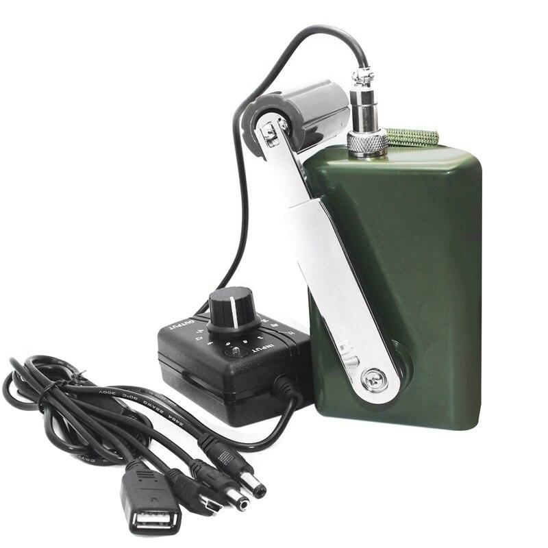 핸드 크랭크 생성기 야외 휴대 전화 컴퓨터에 대 한 높은 전원 충전기 USB 플러그와 30W/0-28V 충전