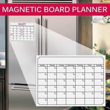 Home Kitchen Magnetic Monthly Planner Whiteboard Fridge Calendar Message Board Magnetic Notes with 3pcs Marker 40*30cm