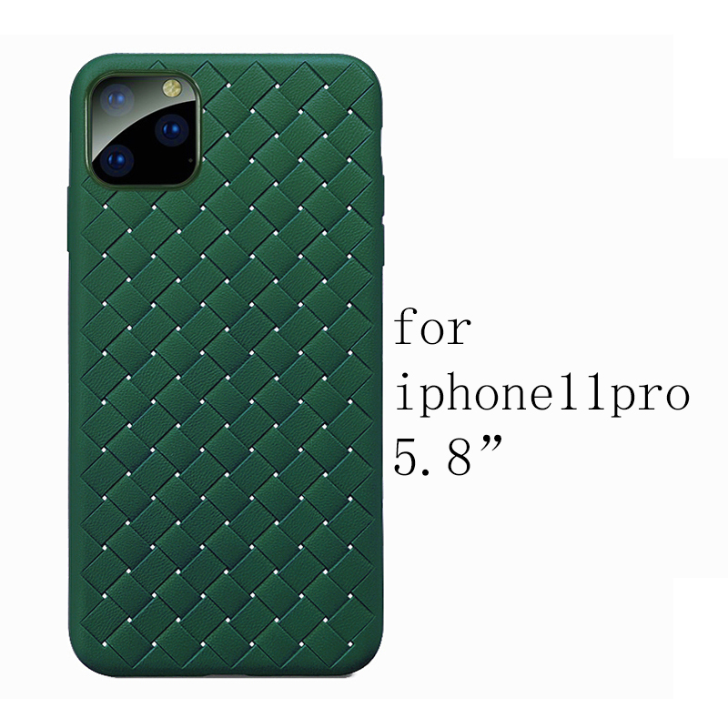 He3e46cc17b9845a2b40a2c46973e6ca2G NEW Boomboos Classic cross leather pattern weaving breathable soft grid case for iPhone11 for iphone 11 max for apple 11 pro