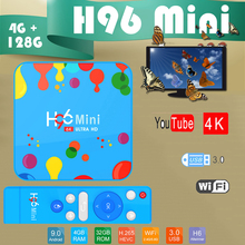 Tv Box Set top box Quad-Core H96mini 6K Youtube 4K Allwinner H6 128GB Android 9.0 Box tv Media-Player 3d-Iptv Bluetooth smart tv стоимость
