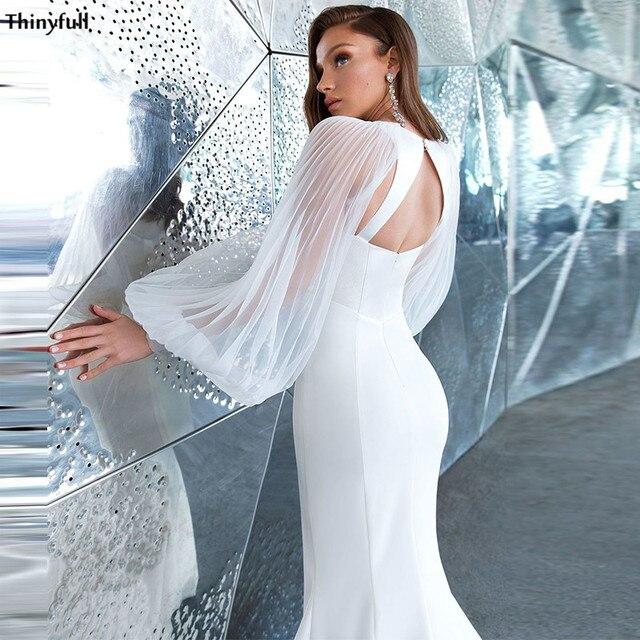 Фото thinyfull сексуальные свадебные платья русалочки атласные пляжные цена