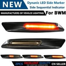LED sinyal lambası BMW için E46 E90 E91 E92 E81 E82 E88 E60 E61 E93 araba dönüş sinyal ışığı dinamik yan işaretleyici flaşör oto lambaları