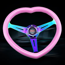 Volant pour filles, accessoire universel pour intérieur de voiture de course, ABS en forme de cœur