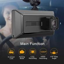 Car DVR 3 Cameras Lens Dash Camera 3.0 Inch Dual Lens With Rear View Camera 1080P Video Recorder Auto Registrator Dvrs Dash Cam недорого