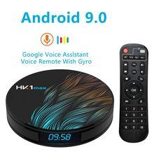 HK1 MAX Smart Android TV Box 4GB 32GB 64GB 128GB Rockchip 4K WiFi Netflix ชุดกล่องเครื่องเล่นมีเดียด้านบน 2GB16GB Android 9.0 TV BOX