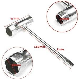 Chave t 1/2 '(13mm) x 3/4' (19mm) chave inglesa de aço inoxidável para motosserra e cortador de escova