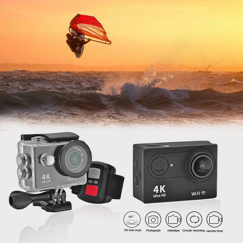 IG-H9R Wifi <font><b>Camera</b></font> 1080P Ultra 4K Sport <font><b>Action</b></font> Waterproof Travel Camcorder 4K 25fps.2 inch LCD HD screen image