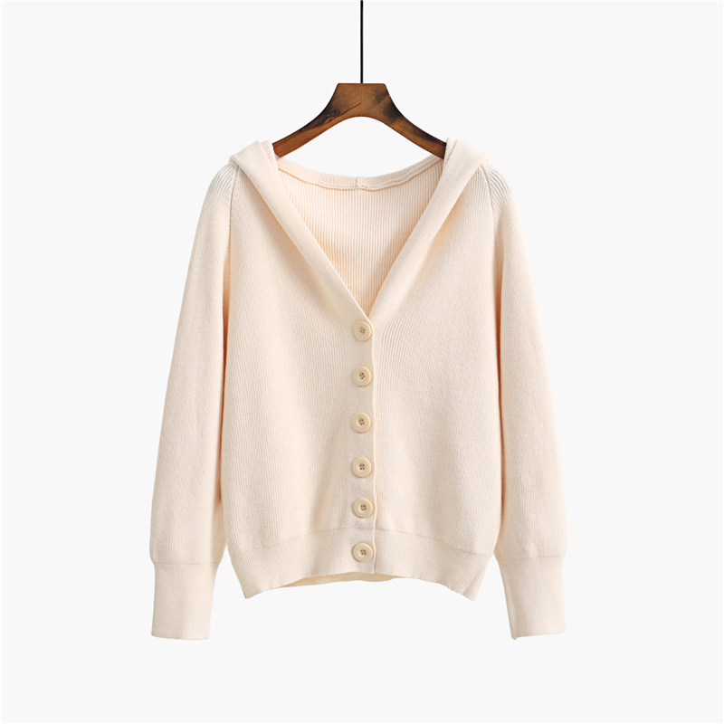 GIGOGOU Hooded Women Cardigan Sweater 2020 Short Preppy Style Campus Student Cardigans Knitted Soft Female Jumpers Top Outfits 9