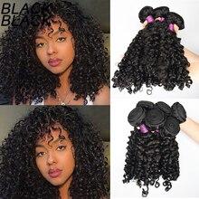 Blackblack-mechones de cabello indio sin procesar, cabello ondulado y rizado italiano humano virgen, paquetes de cabello al mayor, mechones de cabello Remy