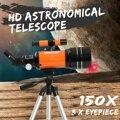 HD Professional Astronomische Teleskop Nachtsicht Deep Space Star View Mond Ansicht 150X Monokulare Teleskop Mit Stativ Hebel-in Spektive aus Sport und Unterhaltung bei