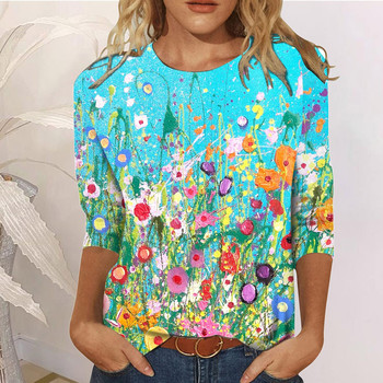 T-shirty z nadrukiem damskie Casual Thermal Crewneck z długim rękawem luźne Poleras Mujer De Moda 2021 kolorowe T-shirt #29 tanie i dobre opinie Heouty REGULAR Batik CN (pochodzenie) Na wiosnę jesień POLIESTER long NONE tops Z KRÓTKIM RĘKAWEM Trzy czwarte Dobrze pasuje do rozmiaru wybierz swój normalny rozmiar