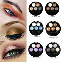 купить Professional 5 Color Eyeshadow Pallete Coastal Scents For Women Natural Radiant Smooth And Soft Waterproof And Easy To Remove дешево