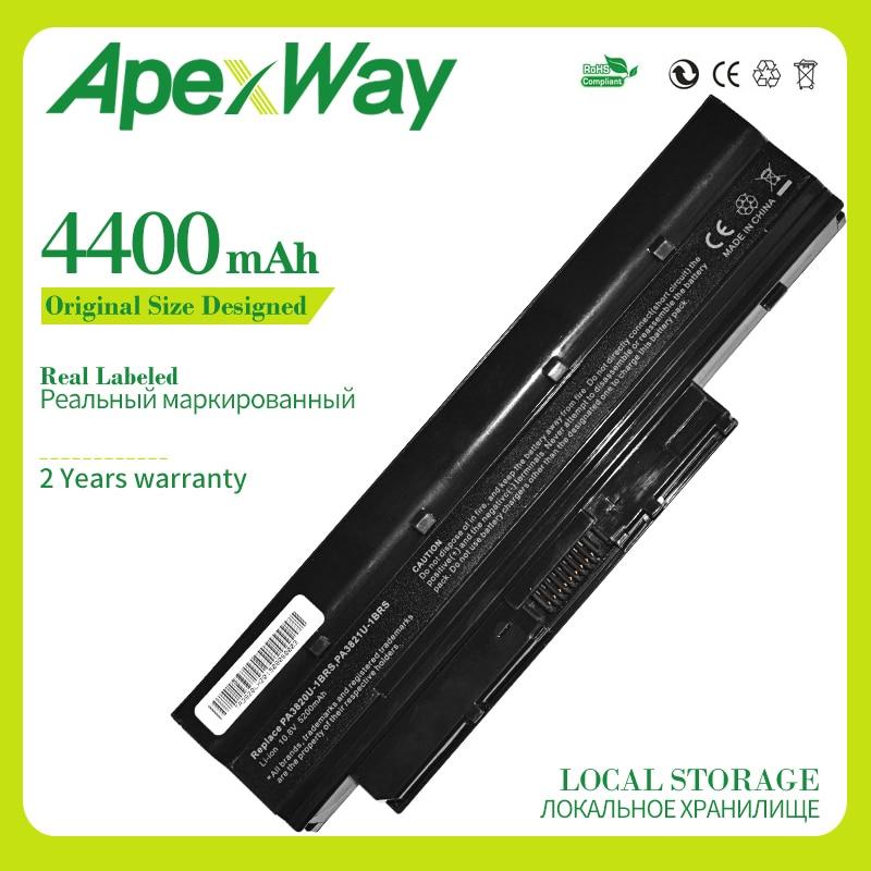 Apexway 4400 MAh Laptop Battery For Toshiba Mini NB500 NB505 NB550D Satellite T210 T215 T230 PA3820U-1BRS PA3821U-1BRS PABAS231