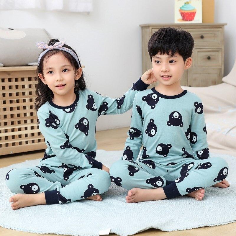 Kids Clothes Big Boys Girls Pajamas Unicorn Pyjamas Kids Sleepwear Cotton Toddler Nightwear Cartoon pijamas enfant Baby pajamas 7