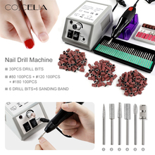 COSCELIA Electric Nail Drill Bits Set Milling Cutter For Manicure Machine Nail Tips Manicure Electric Nail Tools Pedicure File 30000 rpm electric nail drill machine manicure nail drill bits set pedicure sanding equipment miling cutter file hand tools