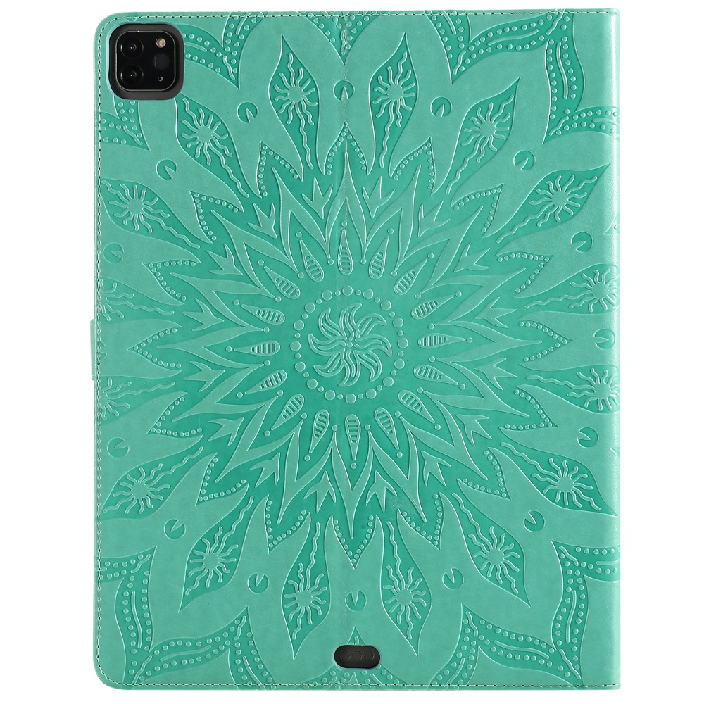Skin Cover 9 for Case Pro Protective iPad 2020 3D Shell Embossed Flower 12 Leather