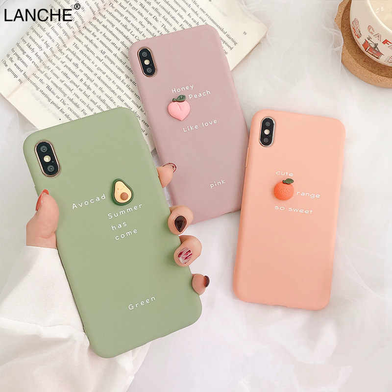 LANCHE Soft Candy TPU Telefoon Case Voor Huawei Y9 2019 P20 P30 Mate 20 lite Honor 20 Pro 3D DIY fruit Case op Voor Honor 10 lite 8X