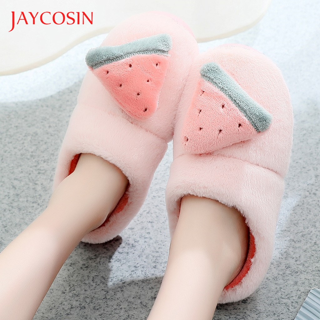 Jaycosin shoes woman winter shoes Warm home slippers women Bow Indoor Slippers Non-Slip Shoes Casual Snow Warm Slippers slides 1
