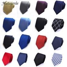 Luxury Mens Ties Silk 8cm Cravate Geometric PLAIDS&CHECKS Stripes Tie Business Wedding Party Neck Gifts for Men
