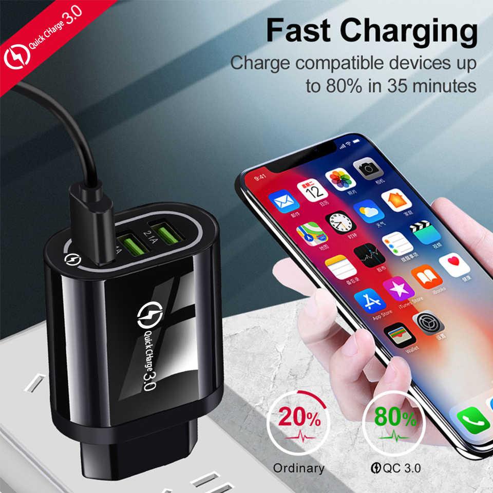 EU/米国プラグ電話充電器急速充電器壁 USB 充電器急速充電 qc 3.0 5 V/3A のためアップルサムスン Huawei 社 Xiaomi iphone 充電器