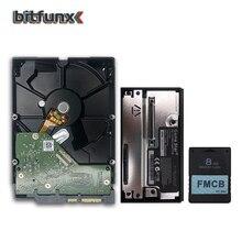Bitfunx fmcb cartão de memória 1.953 8mb para ps2 playstation 2 + jogo estrela sata hdd adaptador sata hdd disco rígido unidade instalado jogos